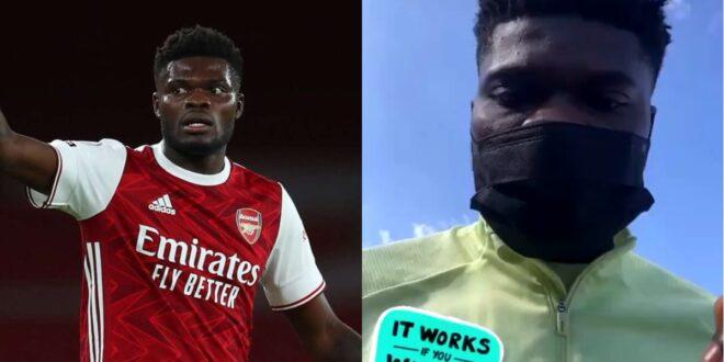"Watch as Thomas Partey jams to ""Ekorso"" while training with Arsenal teammates - Video 1"