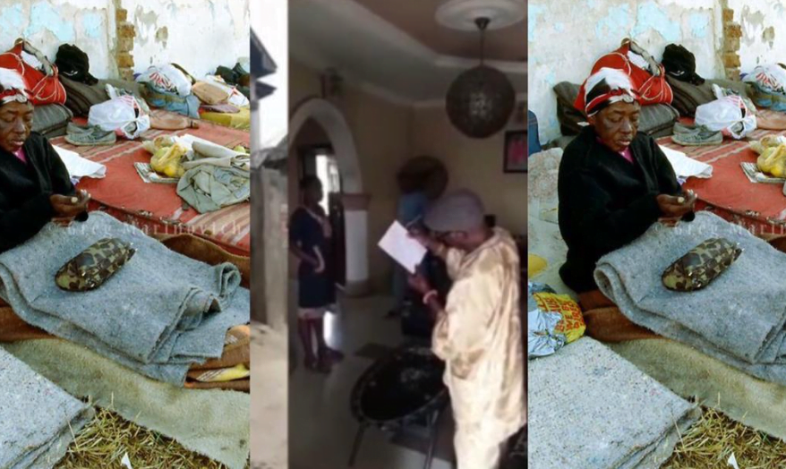Man gives his family house as charity to church as his family sleeps outside - Video