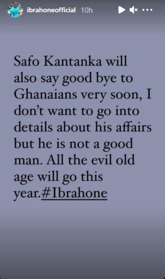 Kwadwo Safo Kantanka will die very soon – 'Prophet' Ibrah One 2