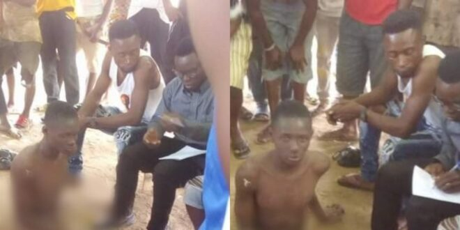 20-year-old man stripped and disgraced for reportedly stealing chicken - Photos 1