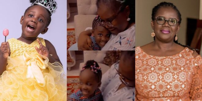 Stonebwoy's daughter Jidula warms hearts as she sings for her grandmother (video) 1