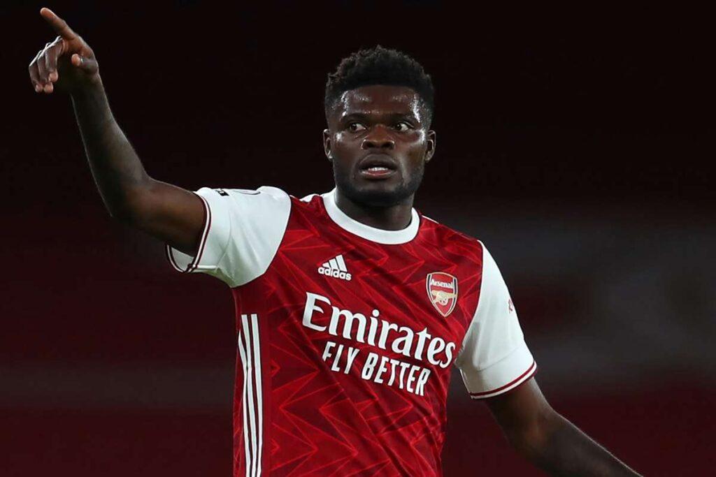 "Watch as Thomas Partey jams to ""Ekorso"" while training with Arsenal teammates - Video"