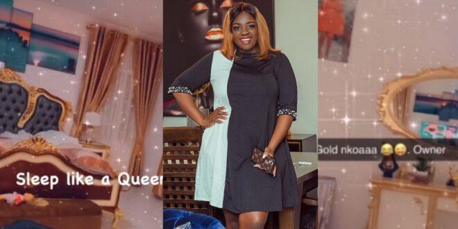 Tracey Boakye displays her 'Gold Nkoaa' bedroom (video) 1