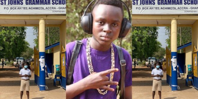 Rapper Tutulapatu Now a student in SHS one at St. John's Grammar (photo) 1