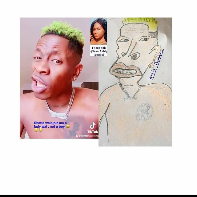 Pictures of your favorite celebrities and their professional drawing that are trending online. 7