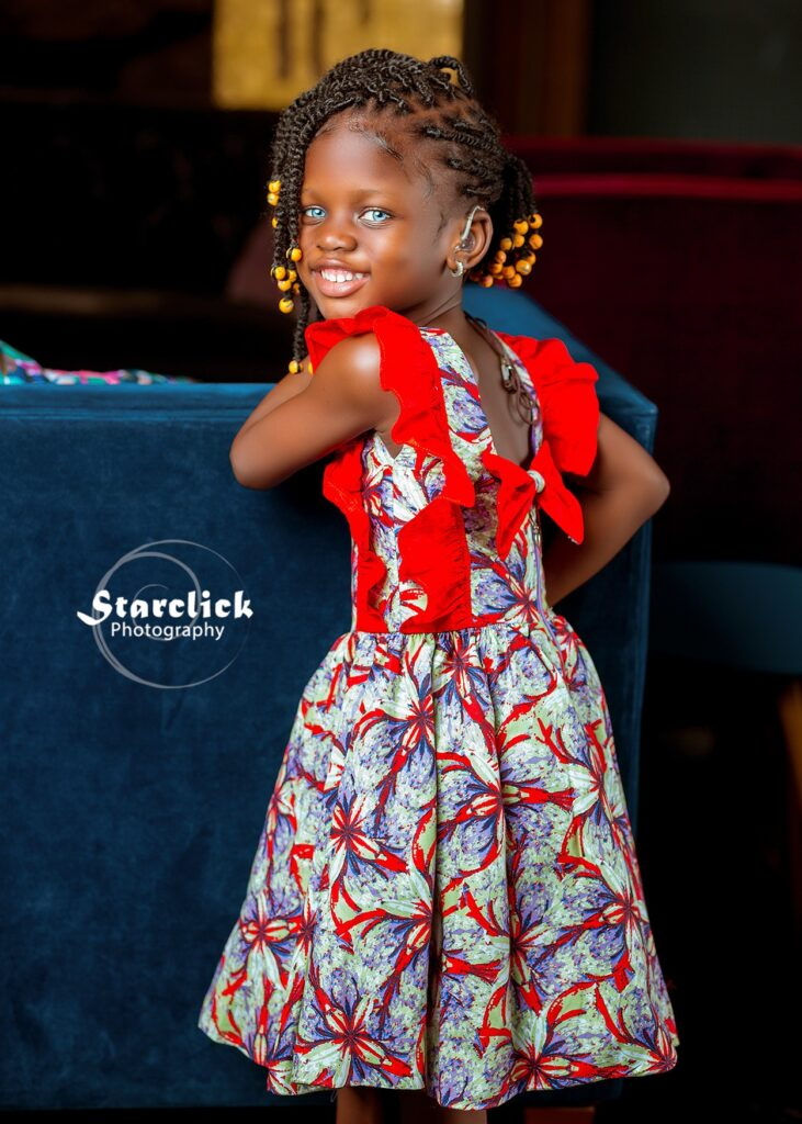 Beautiful deaf Ghanaian girl with blue eyes trills social media with stunning pictures 6
