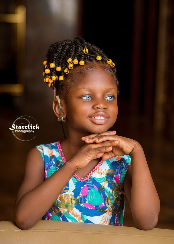 Beautiful deaf Ghanaian girl with blue eyes trills social media with stunning pictures 4