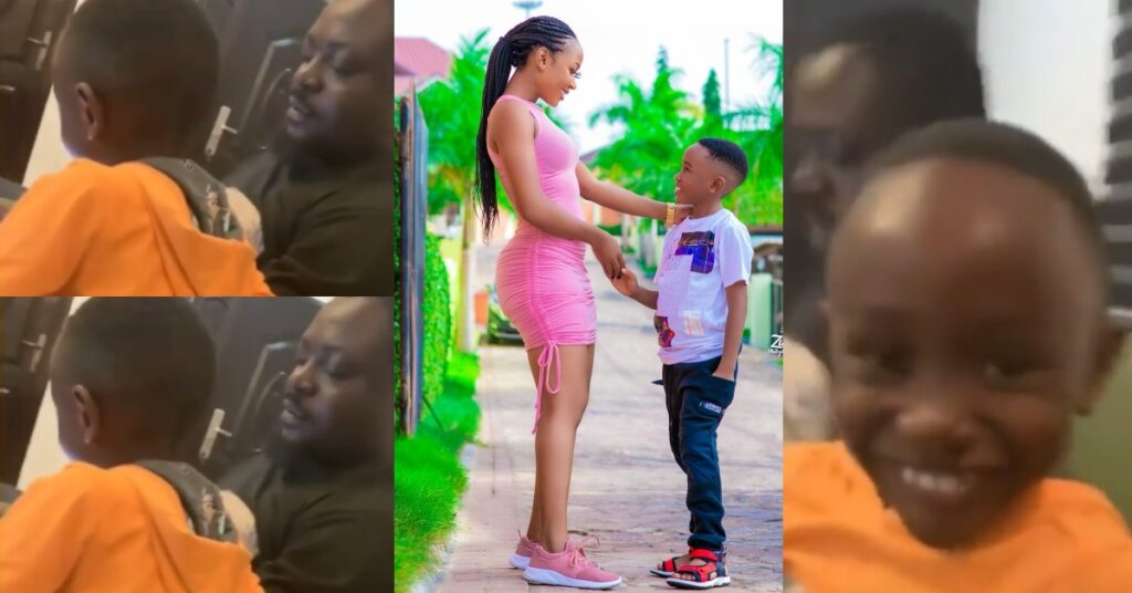 Adorable video of Akuapem Poloo's baby daddy having fun with their son pops up 2