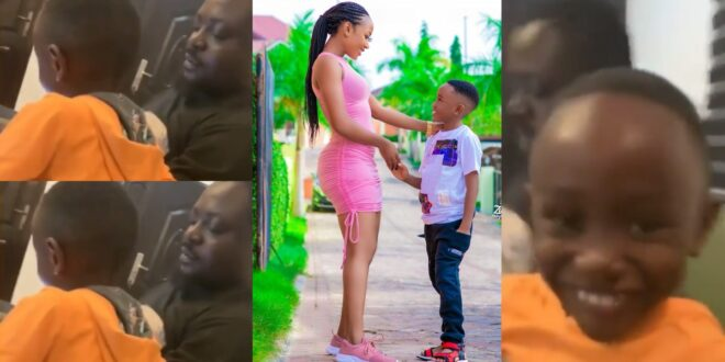 Adorable video of Akuapem Poloo's baby daddy having fun with their son pops up 1
