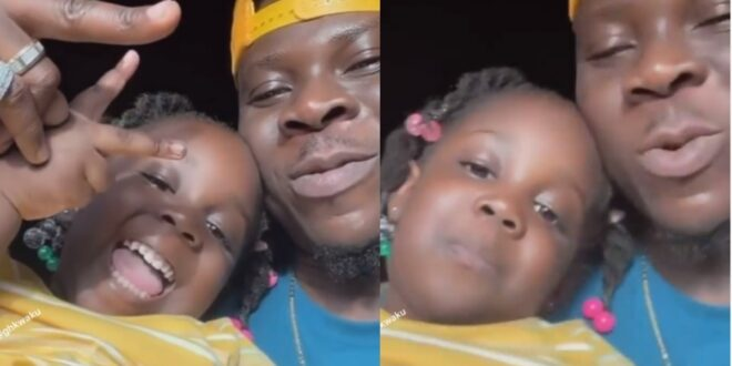 Adorable video of Stonebwoy and his beautiful daughter having some time together surfaces 1