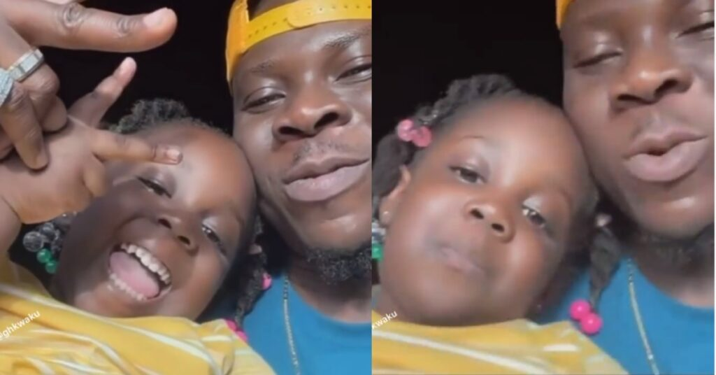 Adorable video of Stonebwoy and his beautiful daughter having some time together surfaces 2
