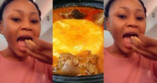 Akuapem Poloo enjoys freedom with a huge bowl of Fufu in a new video 42