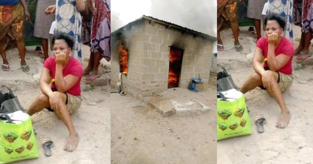 Angry lady sets boyfriend's house on fire after misunderstanding - Photos 2