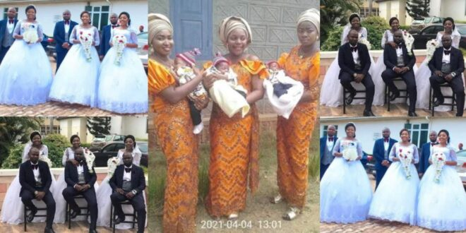 Beautiful as triplets welcome baby boys within the same period after marrying the same day - Photos 1