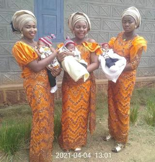 Beautiful as triplets welcome baby boys within the same period after marrying the same day - Photos 3