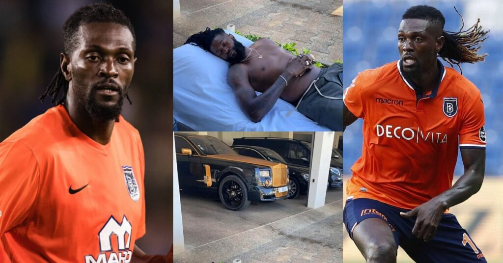 Emmanuel Adebayor proves he is rich as he flaunts his luxurious cars in new photos 2