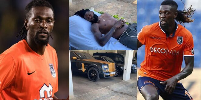 Emmanuel Adebayor proves he is rich as he flaunts his luxurious cars in new photos 1