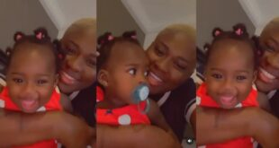 Fella Makafui and her beautiful daughter chops love in new video 2