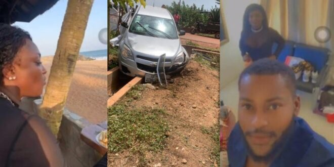 First video of Abena Moet after her accident surfaces - Watch 1