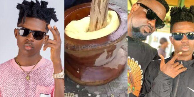Gossip: Strongman spent his whole life pounding fufu for Sarkodie's - Video 1