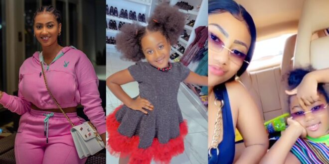 Hajia4real flaunts her beautiful daughter in new videos 1