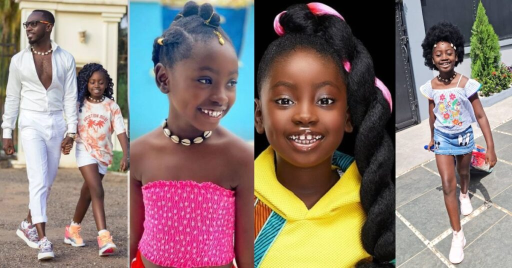 I look like a boy - Okyeame Kwame's daughter cries after cutting off her long hair - Photos 2