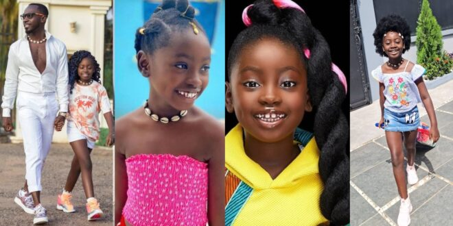 I look like a boy - Okyeame Kwame's daughter cries after cutting off her long hair - Photos 1