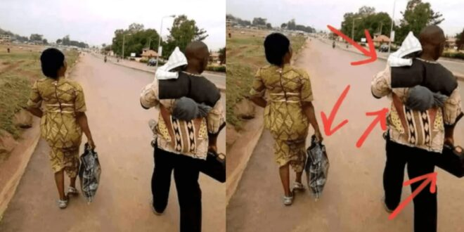 Is this right or wrong? see why Netizens are debating about this picture of a married couple. 1