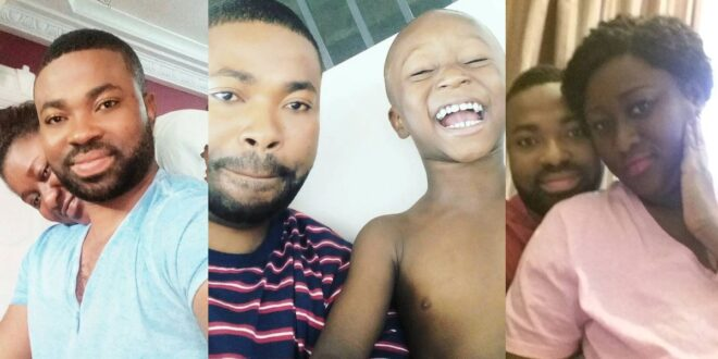 Kumawood actor Samuel Ofori shows off his beautiful wife and son 1