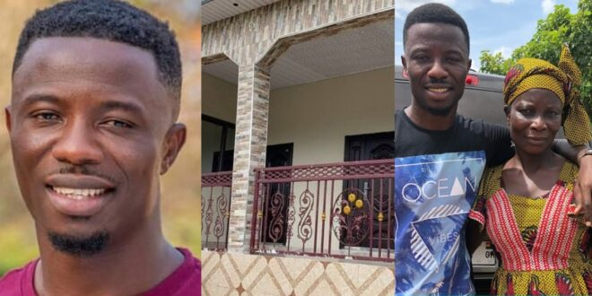 Kwaku Manu displays the beautiful house he has built for his parents - Video 1