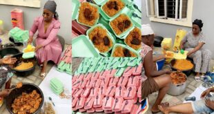 Lady shares free Ramadan Jollof to 268 people - Photos pops up 1