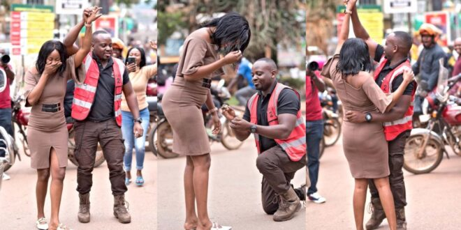 Man causes huge traffic on a busy highway just to propose marriage to his girlfriend (video) 1