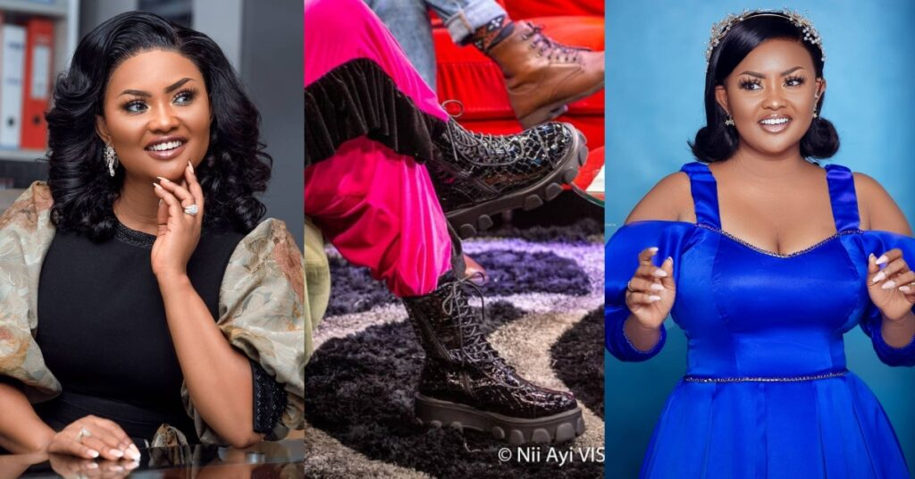 Mcbrown competes with King Promise as she stuns the internet with heavy boots - Photos 2