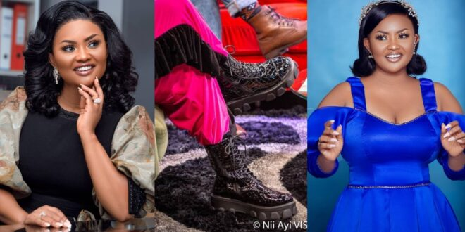Mcbrown competes with King Promise as she stuns the internet with heavy boots - Photos 1