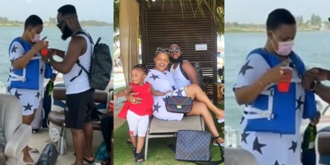 Nana Ama Mcbrown spotted with her shaved head looking like a 16-year old (photos) 1