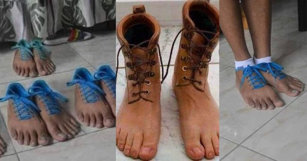 Netizens react as photos of human-feet shoes pops up 2