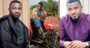New video of John Dumelo driving tractor with skills on his farm surfaces 31