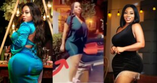 New video of Moesha's right A$$ growing bigger than the left one after 3 Liposuction Surgeries pops up 37