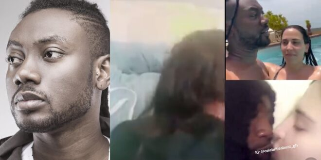 Pappy Kojo shares a video of himself getting a BJ from his white girlfriend (video) 1