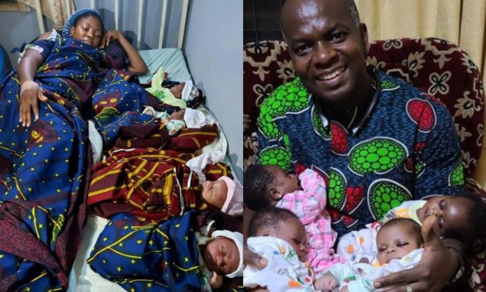 Nigerian Woman Beautifully Welcomes Quadruplets After 16 Years Of Marriage - Photos 2