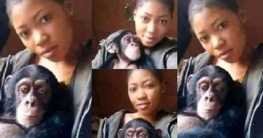 Photos: I will rather date a monkey than a man - Lady falls for a monkey after several broken hearts 2