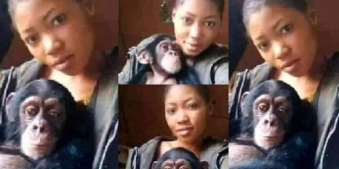 Photos: I will rather date a monkey than a man - Lady falls for a monkey after several broken hearts 1