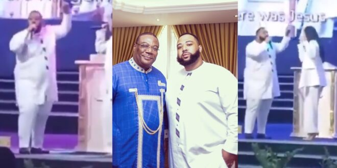 Prodigal son, Daniel Duncan Williams leads praises and worship in his father's church (video) 1
