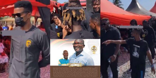 Quamina MP buries his father: Kofi Kinaata, Medikal, and other celebs supports him - Video 1