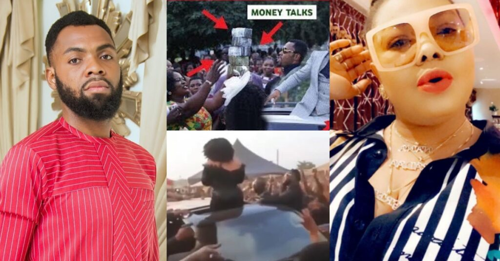 Rev. Obofour and Nana Agradaa clashes at a funeral, challenges as they spray money in the air - Video 2