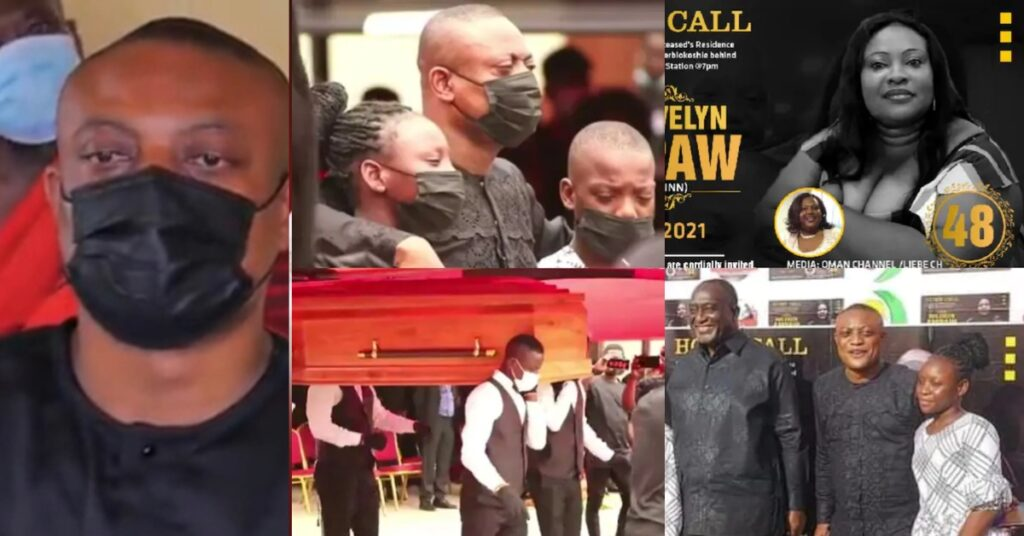 Sad scenes from the burial of Lawyer Maurice Ampaw's wife surfaces 2