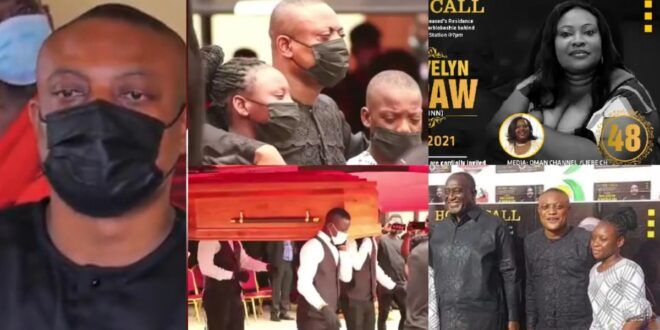 Sad scenes from the burial of Lawyer Maurice Ampaw's wife surfaces 1