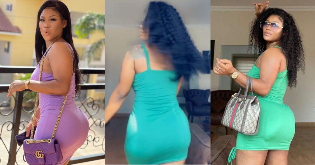 Sandra Ababio displays her beautiful curves in a dance video 2