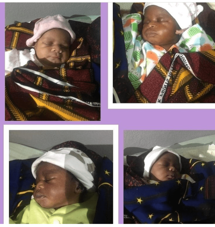 Nigerian Woman Beautifully Welcomes Quadruplets After 16 Years Of Marriage - Photos 5