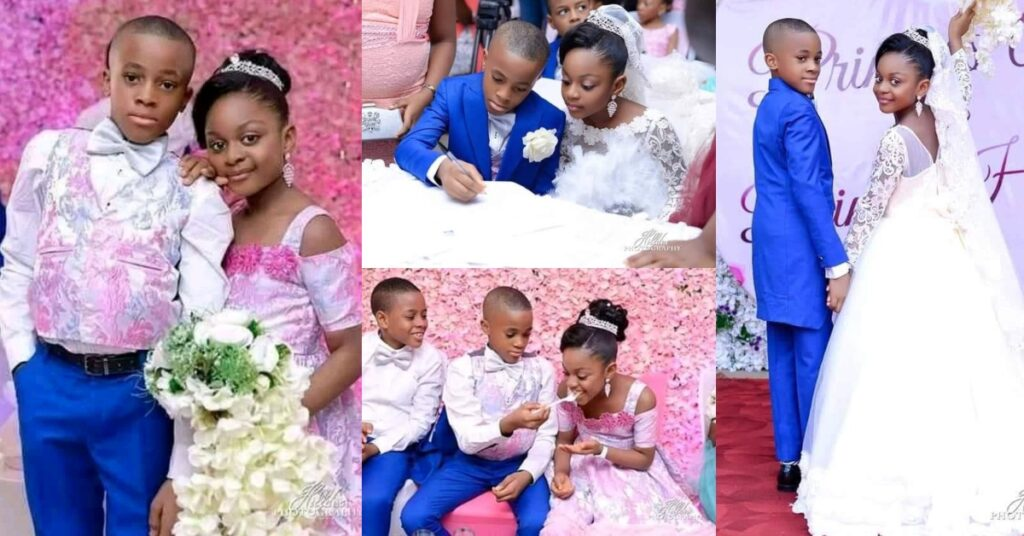 See photos Of The Youngest Kids Who Got Married 2
